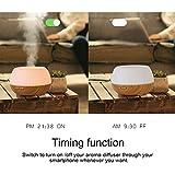 Aroma Diffuser Wi-Fi Intelligente Sprachsteuerung Diffuser Luftbefeuchter mit Amazon Alexa und APP, 300ML Ultraschall Aroma Luftbefeuchter mit 7 Farben LED-Licht, Timer-Einstellung und Nebelsteuerung